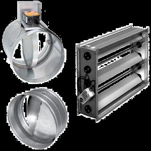 Клапана для прямоугольных и круглых каналов